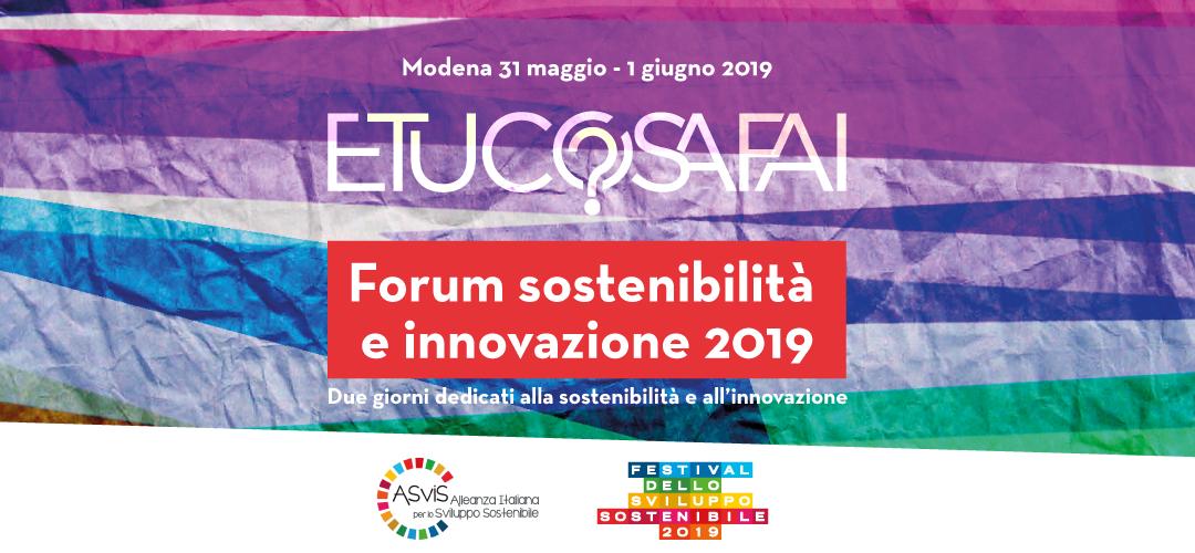 Banner E tu cosa fai? Forum sostenibilità e innovaizione