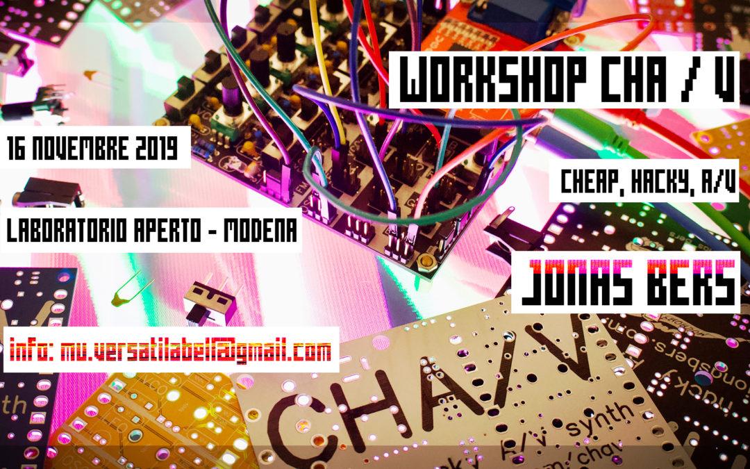 Locandina Workshop CHA/V di Jonas Bers