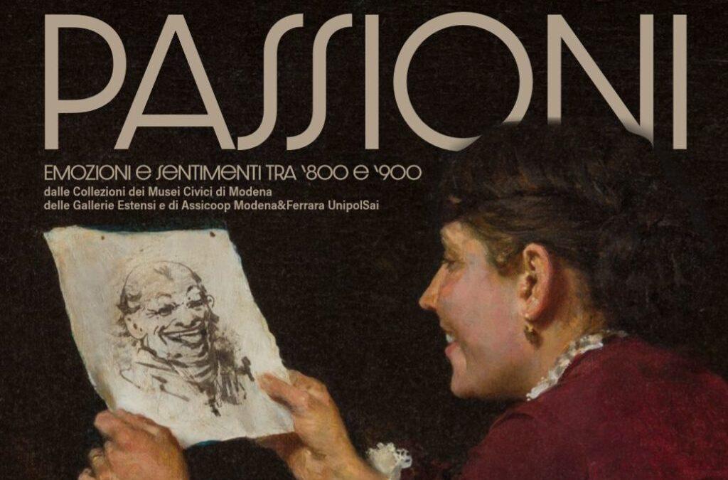 """Particolare Locandina della mostra """"Passioni, emozioni e sentimenti tra '800 e '900"""""""