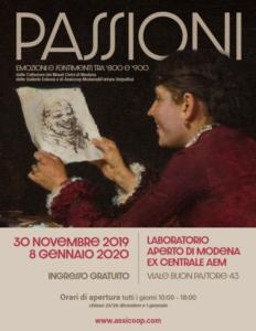 Locandina della mostra Passioni, emozioni e sentimenti tra '800 e '900