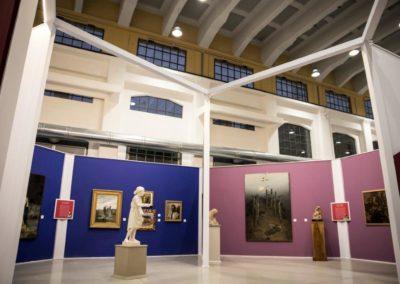 """Esposizione di quadri e sculture della mostra """"Passioni, emozioni e sentimenti tra '800 e '900"""" nella Galleria centrale del Laboratorio Aperto di Modena"""