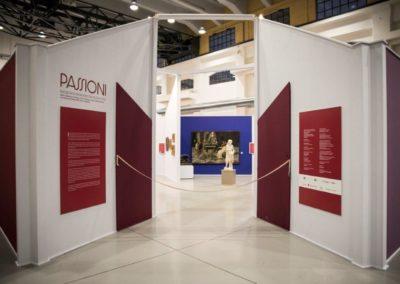 Ingresso della mostra Passioni, emozioni e sentimenti tra '800 e '900