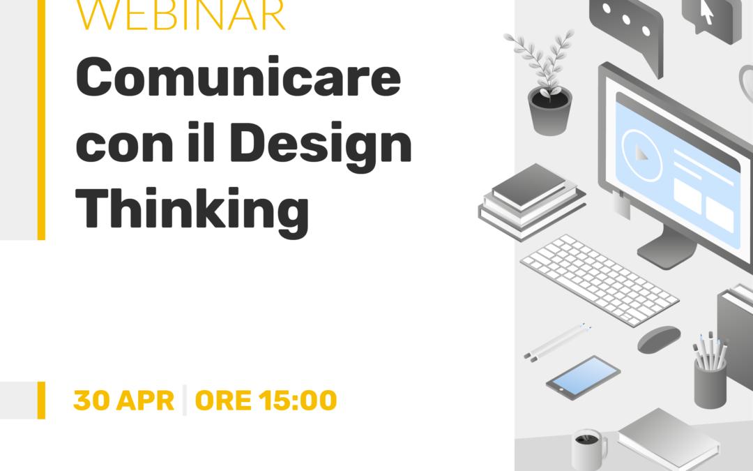 Locandina del webinar: Comunicare con il Design Thinking
