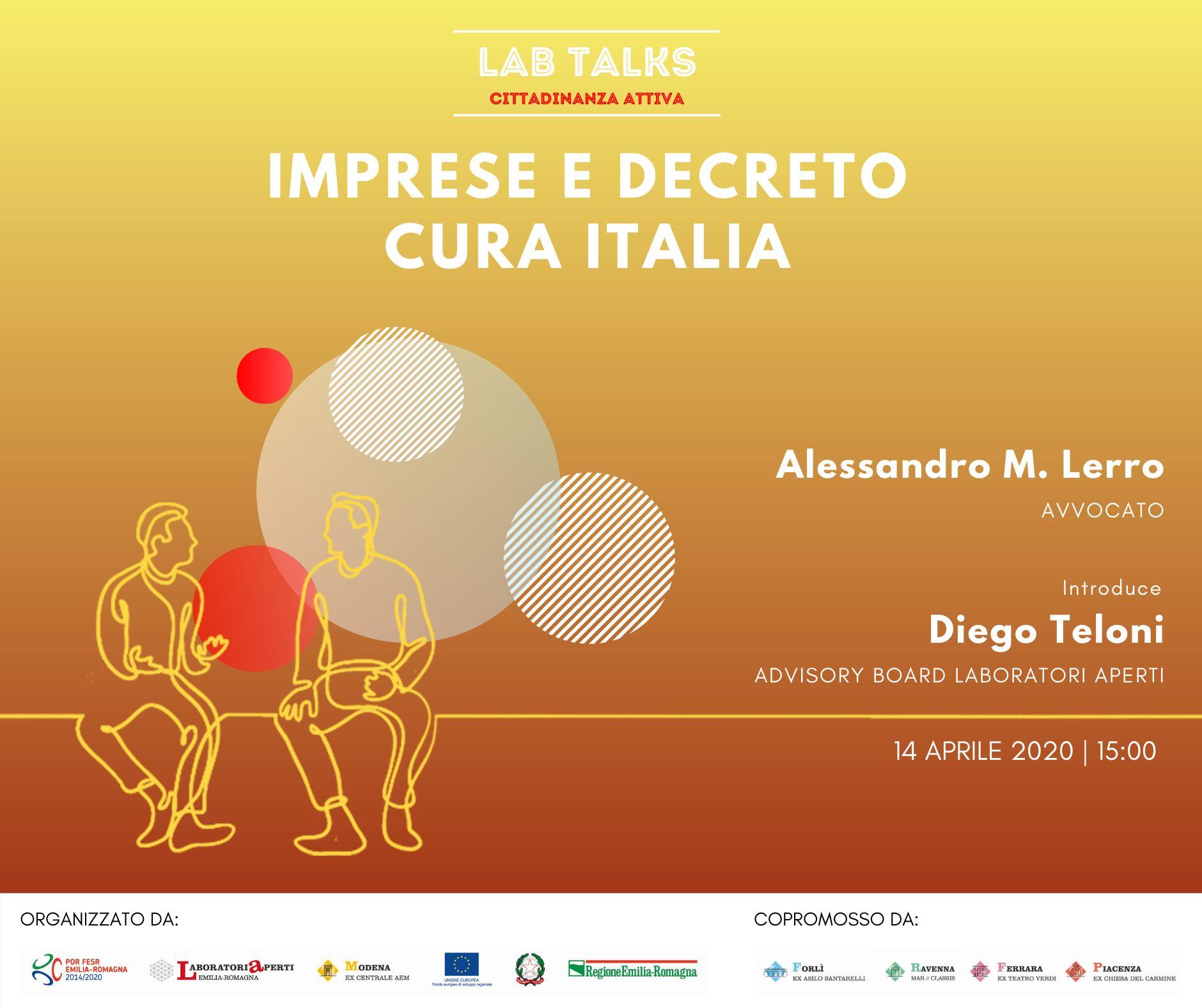 Lab Talks – Cittadinanza Attiva: Imprese e decreto Cura Italia
