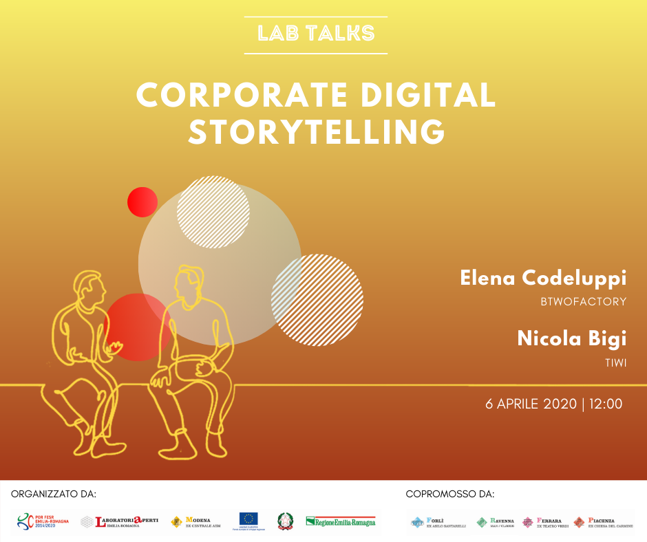 "6 APRILE – LAB TALK ""Corporate digital storytelling"""""