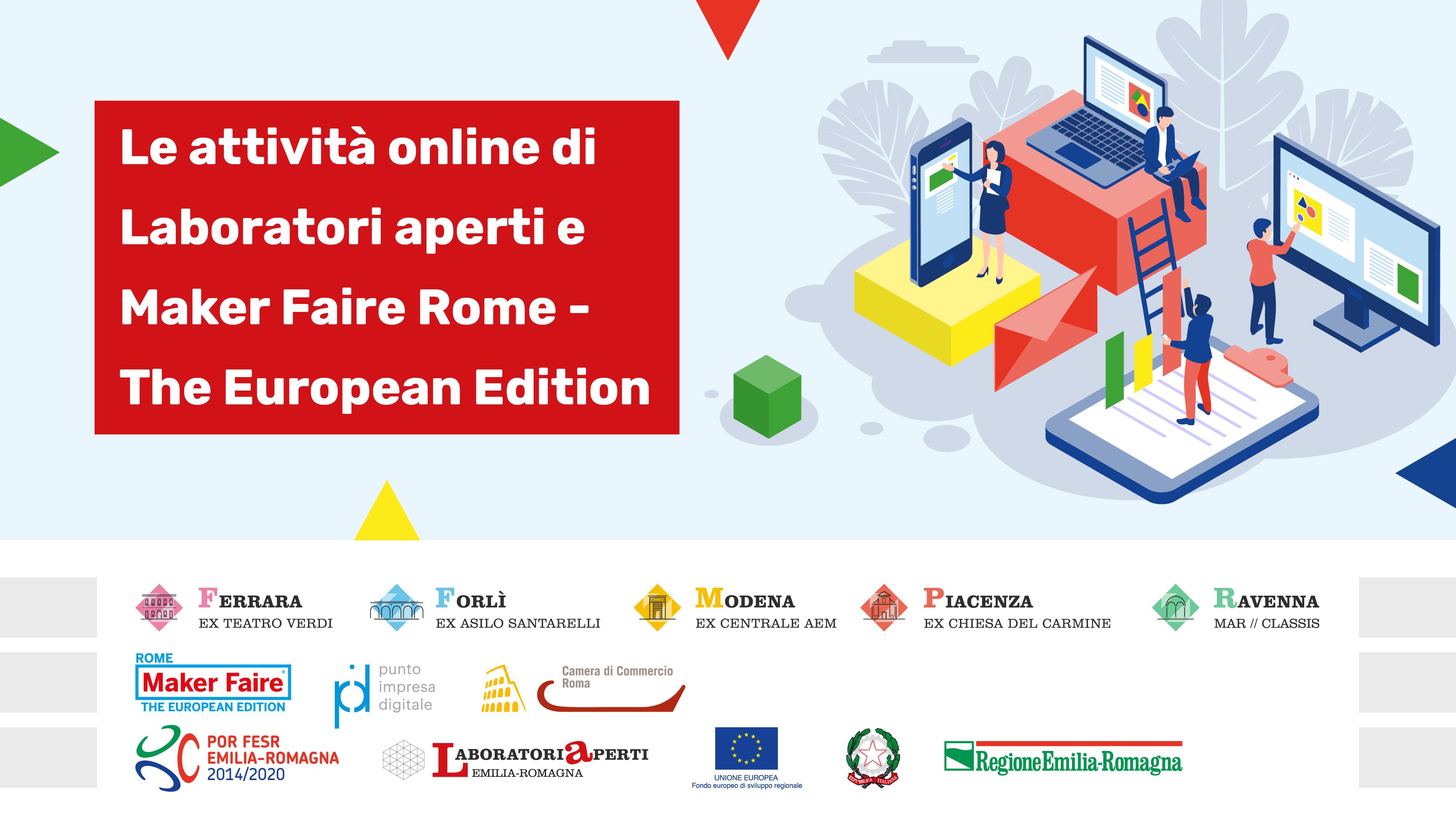 LE ATTIVITà online dei Laboratori Aperti e di Maker Faire Rome – The European Edition