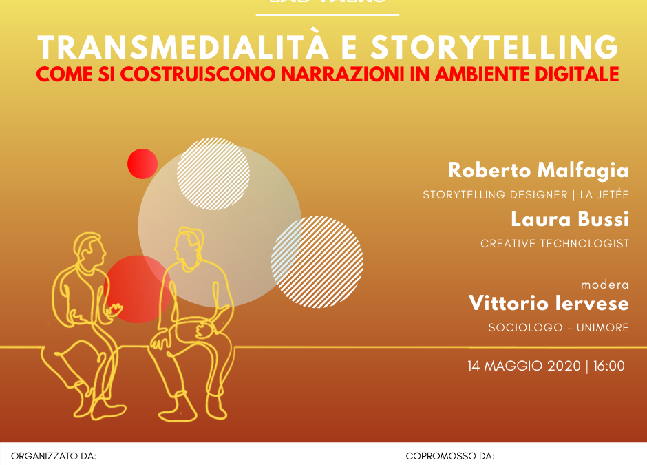 Locandina Lab Talk Transmedialità e storytelling