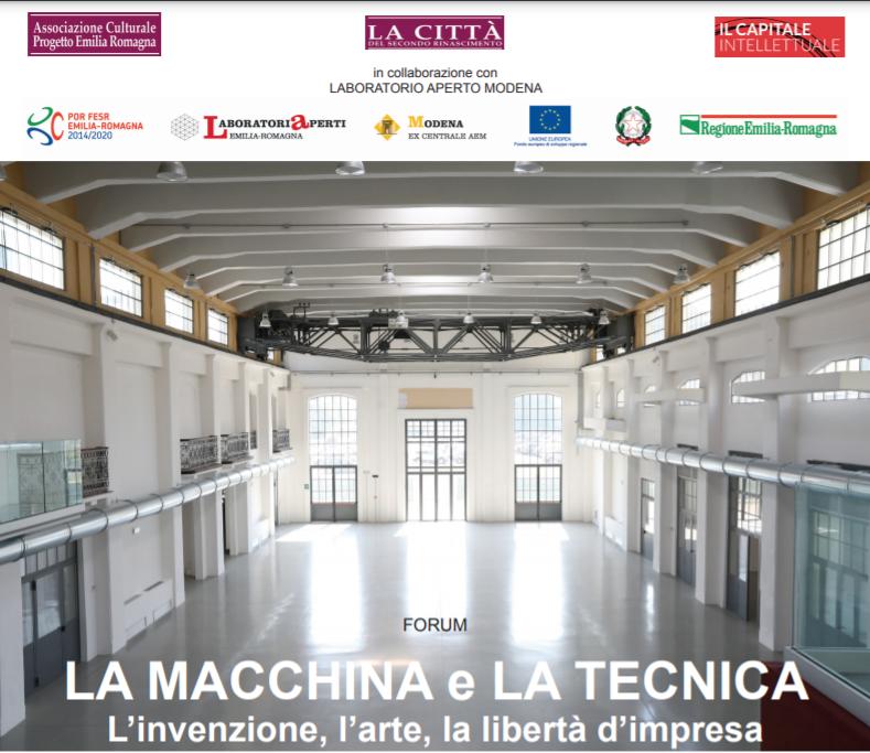 10 SETTEMBRE – LA MACCHINA E LA TECNICA: L'invenzione, l'arte, la libertà d'impresa