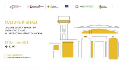Culture Digitali: due anni di open innovation e reti strategiche al Laboratorio Aperto di Modena
