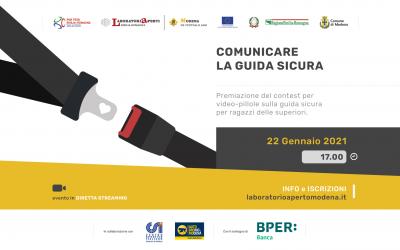22 GENNAIO: COMUNICARE LA GUIDA SICURA – EVENTO DI PREMIAZIONE CALL FOR IDEAS