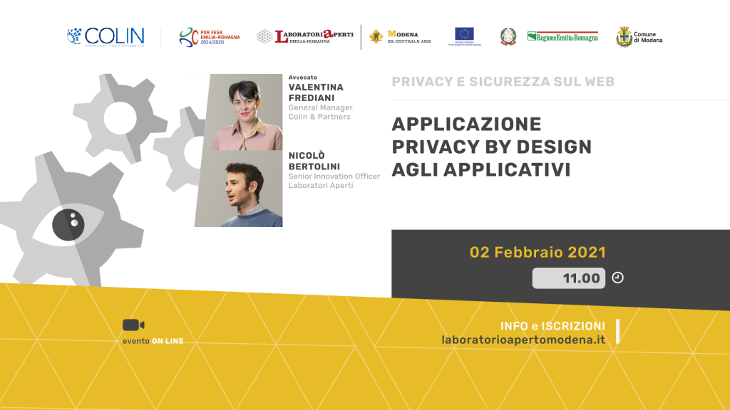 Applicazione privacy by design agli applicativi