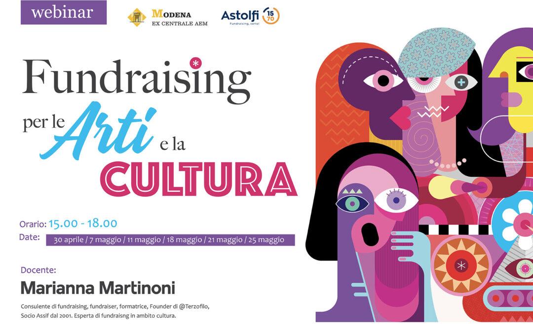 Locandina Corso online Fundraising per le Arti e la Cultura